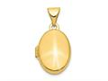 Finejewelers 14k Plain Polished Oval Locket Pendant Necklace 18 inch chain included