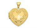 Finejewelers 14k Domed Heart Locket Pendant Necklace 18 inch chain included
