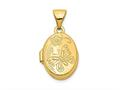 Finejewelers 14k Floral and Butterfly Locket Pendant Necklace 18 inch chain included