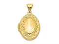 Finejewelers 14k Scroll Oval Locket Pendant Necklace 18 inch chain included