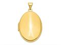 Finejewelers 14k Polished Domed Oval Locket Pendant Necklace 18 inch chain included