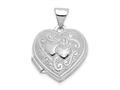 Finejewelers 14k White Gold Heart Locket Pendant Necklace 18 inch chain included