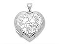 Finejewelers 14k White Gold Domed Heart Locket Pendant Necklace 18 inch chain included