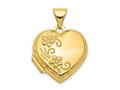 Finejewelers 14k Reversible Heart Locket Pendant Necklace 18 inch chain included