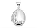 Finejewelers 14k White Gold Locket Pendant Necklace 18 inch chain included