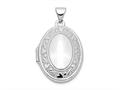 Finejewelers 14k White Gold Oval Locket Pendant Necklace 18 inch chain included
