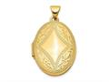 Finejewelers 14k Oval Locket Pendant Necklace 18 inch chain included