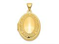 Finejewelers 14k Yellow Gold Oval Locket Pendant Necklace 18 inch chain included