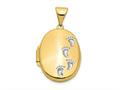 Finejewelers 14k Footprints Locket Pendant Necklace 18 inch chain included