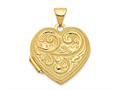 """Finejewelers 14k Scrolled """"love You Always"""" Heart Locket Pendant Necklace 18 inch chain included"""
