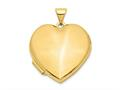 Finejewelers 14k 21mm Heart Domed Plain Locket Pendant Necklace 18 inch chain included