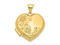 Finejewelers 14k 18mm Polished Heart-shaped Floral Locket Pendant Necklace 18 inch chain included