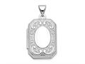 Finejewelers 14k White Gold 20mm Book Scroll Border Locket Pendant Necklace 18 inch chain included