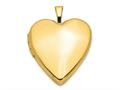 Finejewelers 14k 20mm Plain Polished Heart Locket Pendant Necklace 18 inch chain included