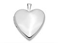 Finejewelers 14k 20mm White Gold Plain Polished Heart Locket Pendant Necklace 18 inch chain included