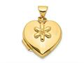 Finejewelers 14k 15mm Heart With Flower Dangle Locket Pendant Necklace 18 inch chain included