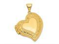 Finejewelers 14k Fancy Heart Locket Pendant Necklace 18 inch chain included