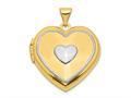 Finejewelers 14k W/rhodium 21mm Heart Locket Pendant Necklace (key Charm Inside Locket ) 18 inch chain