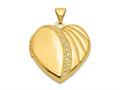 Finejewelers 14k 21mm Heart Locket Pendant Necklace 18 inch chain included