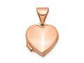 Finejewelers 14k Rose Gold 10mm Plain Heart Locket Pendant Necklace 18 inch chain included