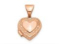 Finejewelers 14k Rose Gold Polished 10mm Heart-shaped Scrolled Locket Pendant Necklace 18 inch chain