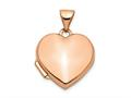 Finejewelers 14k Rose Gold 15mm Plain Heart Locket Pendant Necklace 18 inch chain included