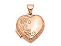 Finejewelers 14k Rose Gold 15mm Reversible Heart Locket Pendant Necklace 18 inch chain included