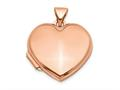 Finejewelers 14k Rose Gold 18mm Domed Heart Locket Pendant Necklace 18 inch chain included