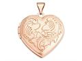 Finejewelers 14k Rose Gold 21mm Domed Heart Locket Pendant Necklace 18 inch chain included