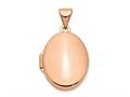 Finejewelers 14k Rose Gold Polished 17mm Plain Oval Locket Pendant Necklace 18 inch chain included