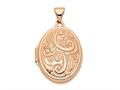 Finejewelers 14k Rose Gold 21mm Domed Oval Locket Pendant Necklace 18 inch chain included