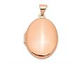 Finejewelers 14k Rose Gold Polished 21mm Oval Locket Pendant Necklace 18 inch chain included