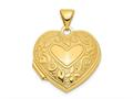 Finejewelers 14k 18mm Heart Locket Pendant Necklace 18 inch chain included