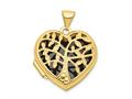 Finejewelers 14k 18mm Heart W/tree Locket Pendant Necklace 18 inch chain included