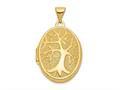 Finejewelers 14k 21x16mm Oval Tree Locket Pendant Necklace 18 inch chain included