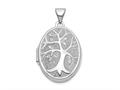 Finejewelers 14k White Gold 21x16mm Oval Tree Locket Pendant Necklace 18 inch chain included