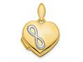 Finejewelers 14k and Rhodium Polished Infinity Heart Locket Pendant Necklace 18 inch chain included