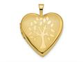 Finejewelers 14k 20mm Tree Heart Locket Pendant Necklace 18 inch chain included