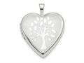 Finejewelers 14k White Gold 20mm Tree Heart Locket Pendant Necklace 18 inch chain included