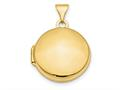 Finejewelers 14k Polished Domed 16mm Round Locket Pendant Necklace 18 inch chain included