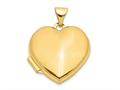 Finejewelers 14k Plain Heart Locket Pendant Necklace 18 inch chain included
