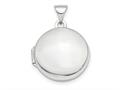 Finejewelers 14k White Gold Polished Domed 16mm Round Locket Pendant Necklace 18 inch chain included