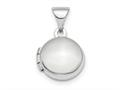 Finejewelers 14k White Gold Polished Domed 10mm Round Locket Pendant Necklace 18 inch chain included