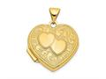 Finejewelers 14k Double Heart Locket Pendant Necklace 18 inch chain included
