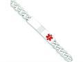 Finejewelers Sterling Silver Polished Medical Curb Link Id Bracelet