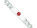Finejewelers Sterling Silver Polished Medical Curb Link Id Bracelet