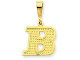 14k Yellow Gold Initial B Charm style: C1449B