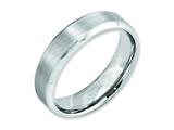 <b>Engravable</b> Chisel Cobalt Beveled Edge Satin And Polished 6mm Wedding Band style: CC10