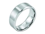 <b>Engravable</b> Chisel Cobalt Beveled Edge Satin And Polished 8mm Wedding Band style: CC12