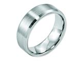 <b>Engravable</b> Chisel Cobalt Beveled Edge Satin 7mm Wedding Band style: CC14